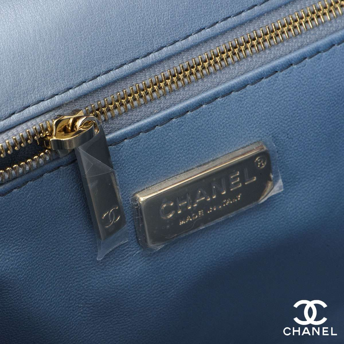 Chanel Blue Python Cross body Handbag